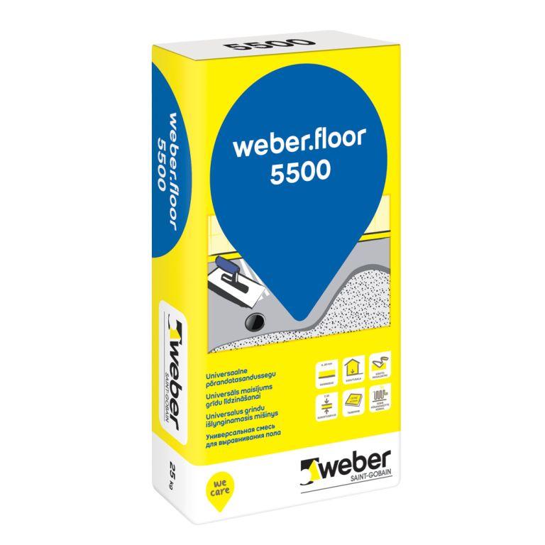 grīdas līdzinātājs weber.floor 5500