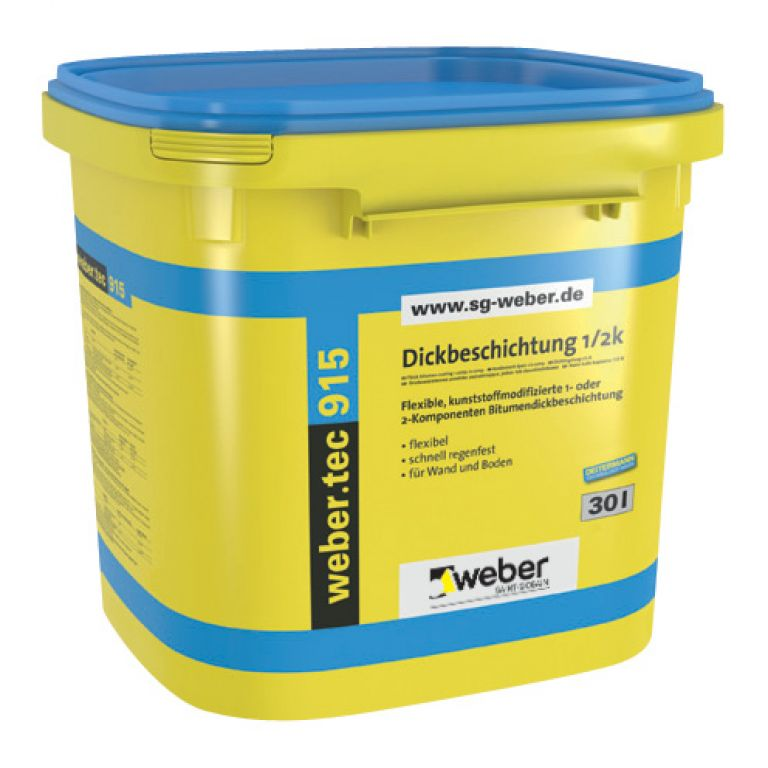 Bitumena hidroizolācija pamatiem weber.tec 915