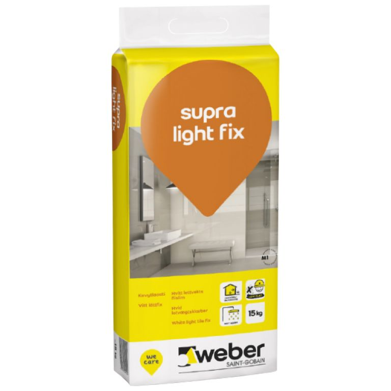flīžu līme weber supra light fix